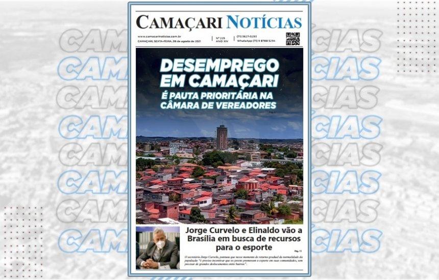 [Jornal impresso Camaçari Notícias destaca combate ao desemprego]