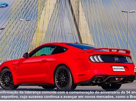 [Ford Mustang é o cupê esportivo mais vendido do mundo pelo 3° ano consecutivo]