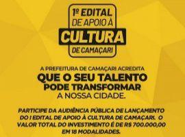 [Prefeitura lança 1° Edital de apoio à Cultura de Camaçari]