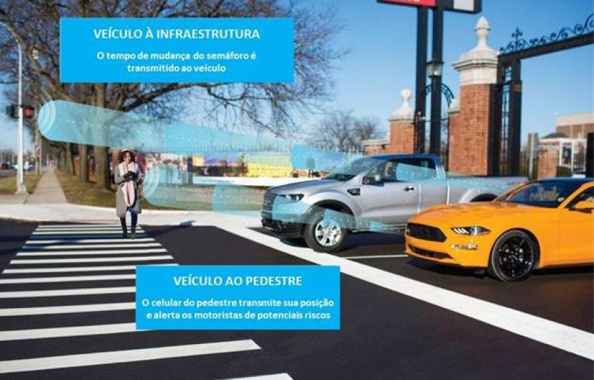 [Ford anuncia na CES o lançamento de carros com a tecnologia C-V2X]