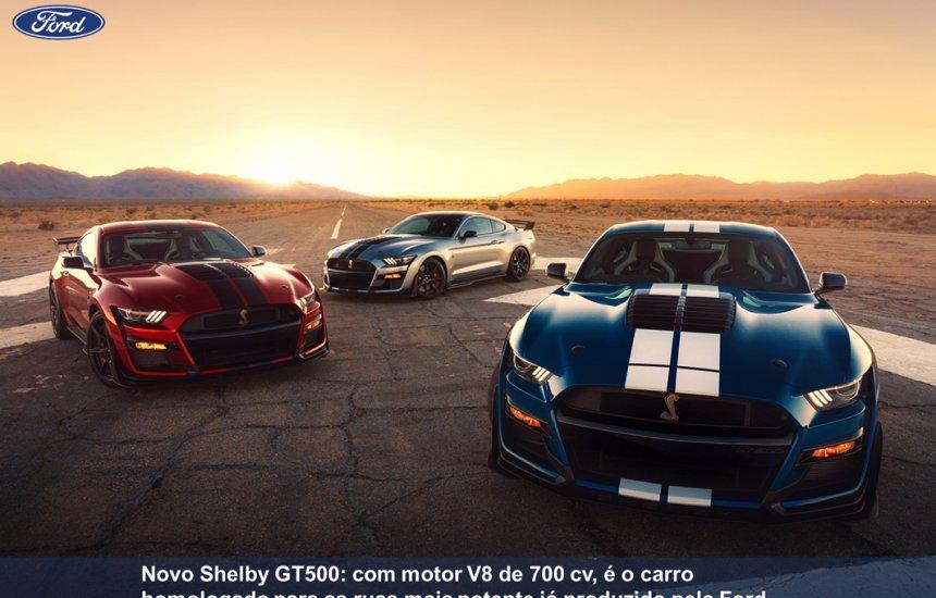 [Ford apresenta os novos Shelby GT500, Explorer e Police Interceptor híbrido]