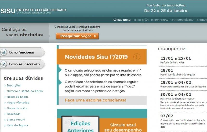 Sisu abre inscrições para 235 mil vagas; veja quem pode participar