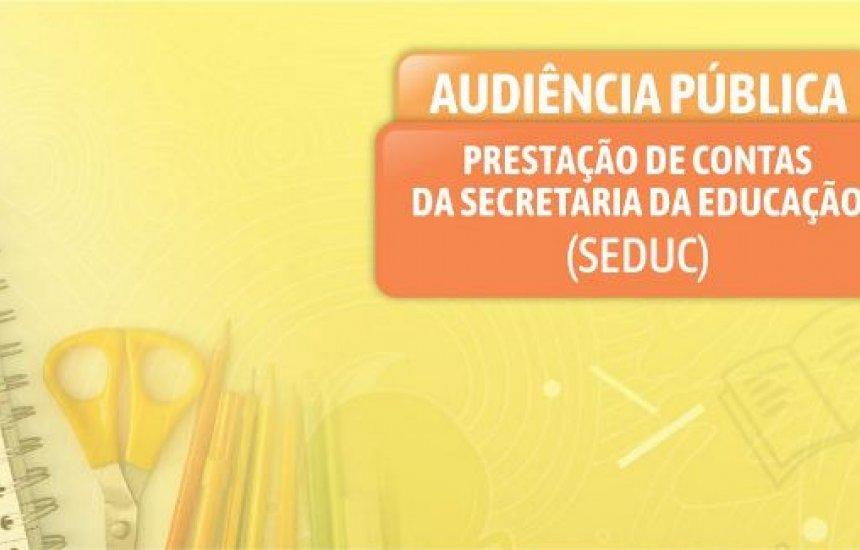 [Camaçari: Audiência Pública da Seduc é adiada para a próxima quinta (21)]
