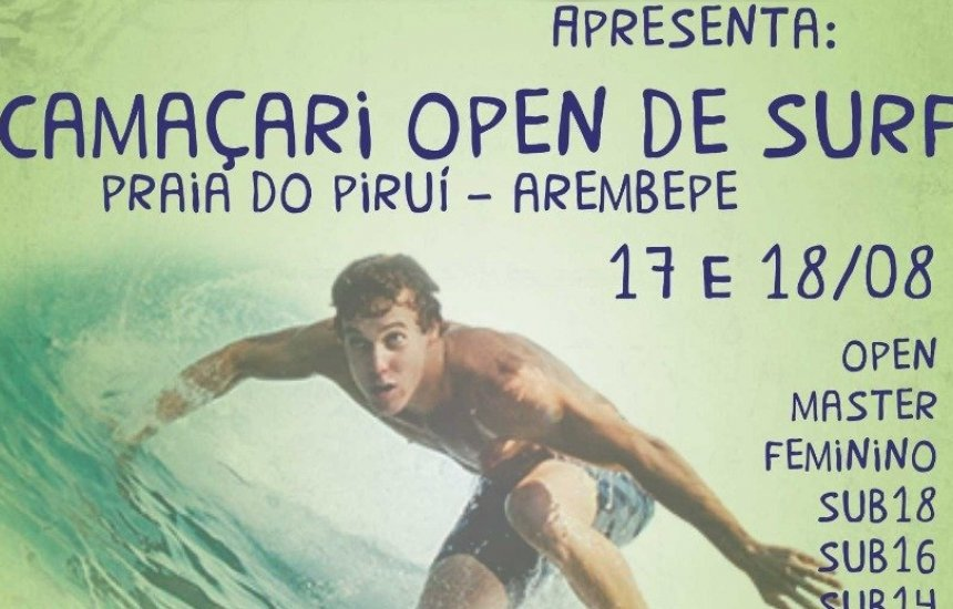 [Camaçari Open de Surf acontece neste fim de semana em Arembepe]