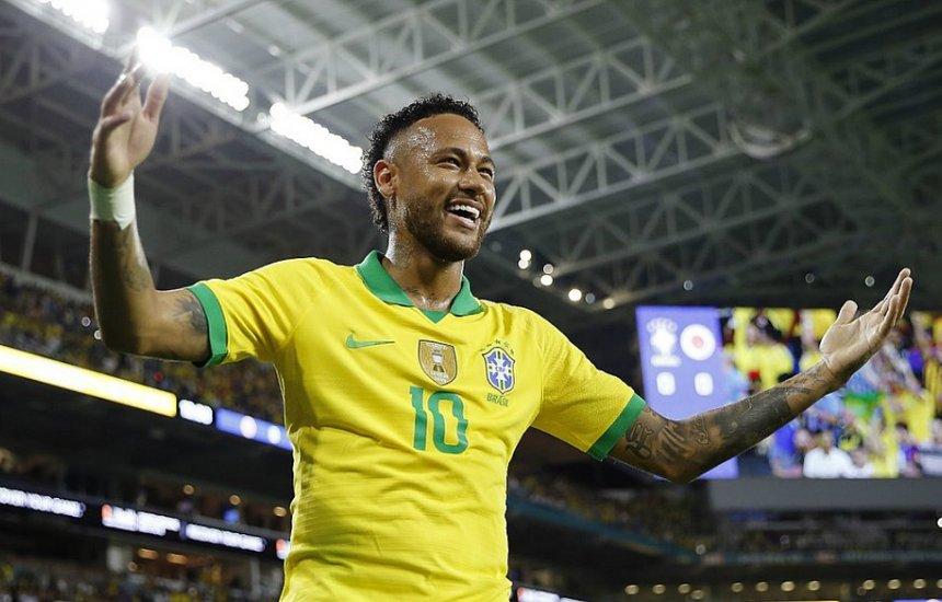[Na volta de Neymar, Brasil empata com a Colômbia em Miami]