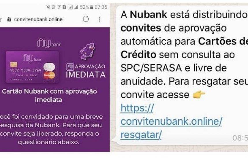 [Novo golpe no Nubank usa e-mail para roubar dados dos clientes]