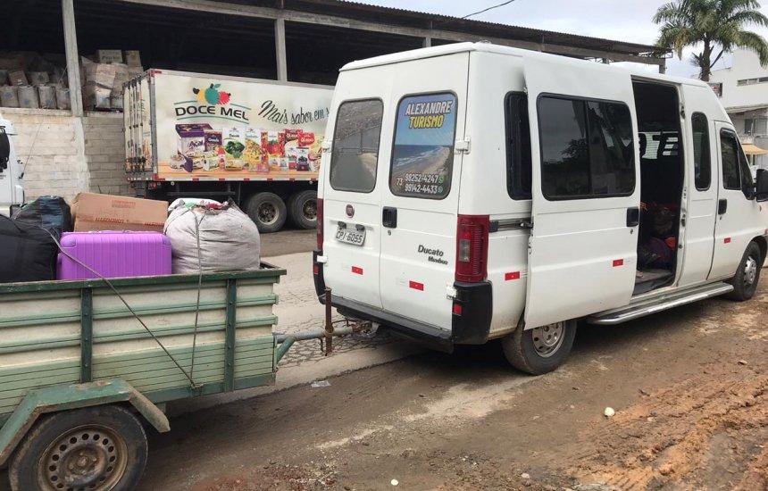 [Veículo que transportava 12 pessoas de São Paulo para a Bahia é apreendido]