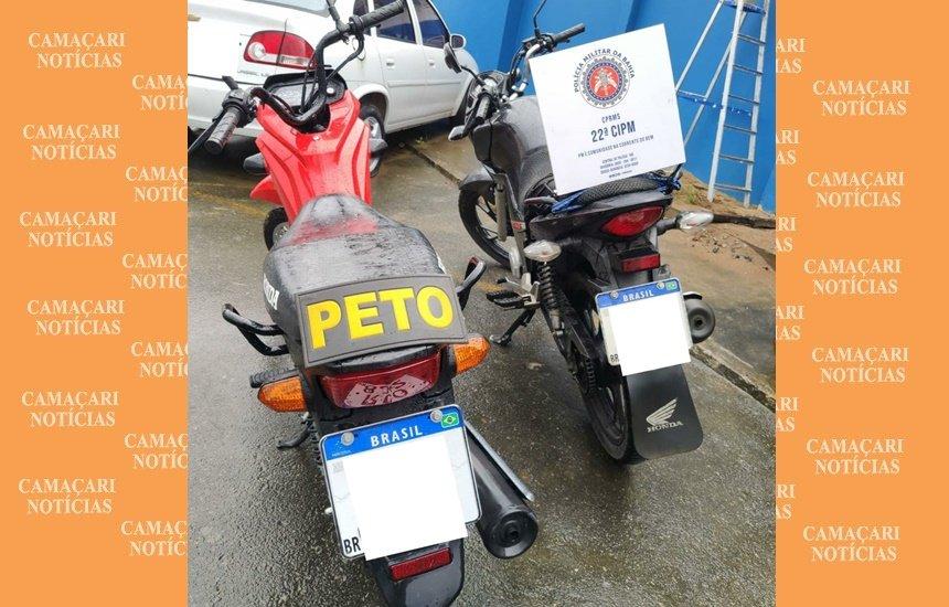 [Polícia Militar recupera duas motos em Simões Filho]