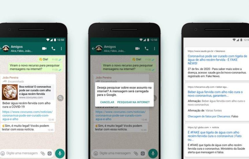 [WhatsApp ganha recurso para checar conteúdo de mensagem encaminhada]