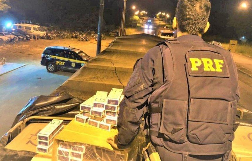 [Caminhoneiro é preso por contrabando com 300 mil maços de cigarros]