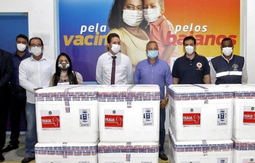 [Bahia vai receber mais 56 mil doses da vacina Coronavac nesta segunda]
