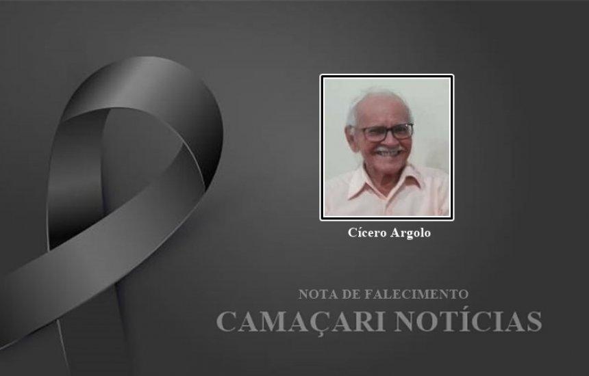[Nota de pesar: morre o fundador da Comunidade Nossa Srª da Conceição, Cícero Argolo]