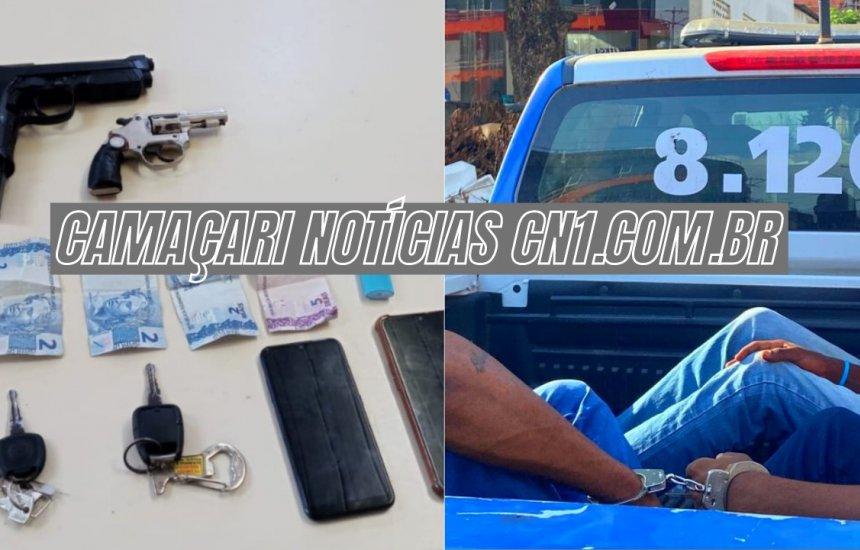 [Três homens são presos com carro roubado em Camaçari]
